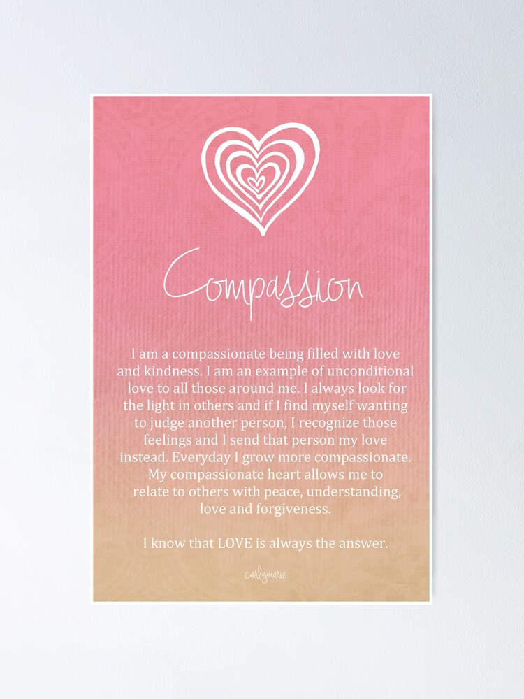 Alternate view of Affirmation - Compassion Poster
