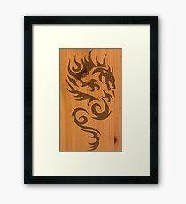Wood Dragon Framed Print