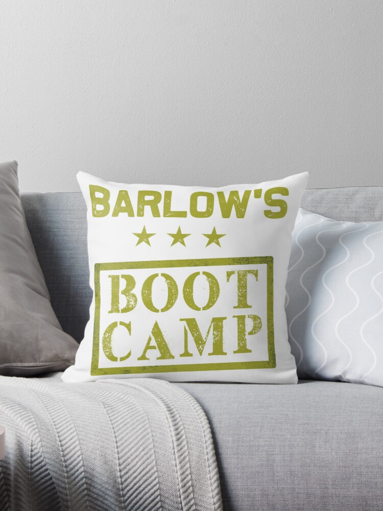 Barlow S Bootcamp Vol 1 Throw Pillow By Purpleandgreens Redbubble