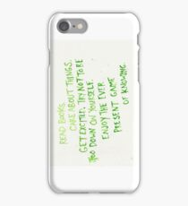 read books, care about things iPhone Case/Skin