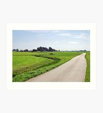 Allingawier - Friesland - Netherlands Art Print