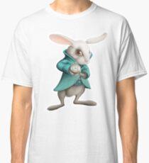 white rabbit with clock Classic T-Shirt