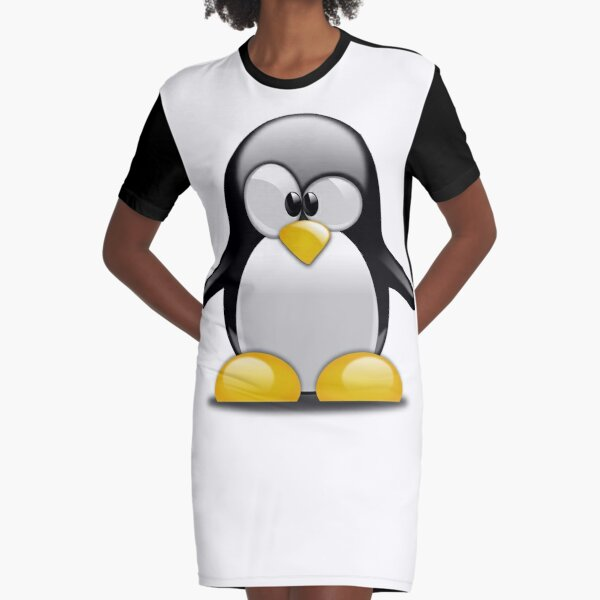 Penguin Tux Baby, The Linux Mascot Graphic T-Shirt Dress