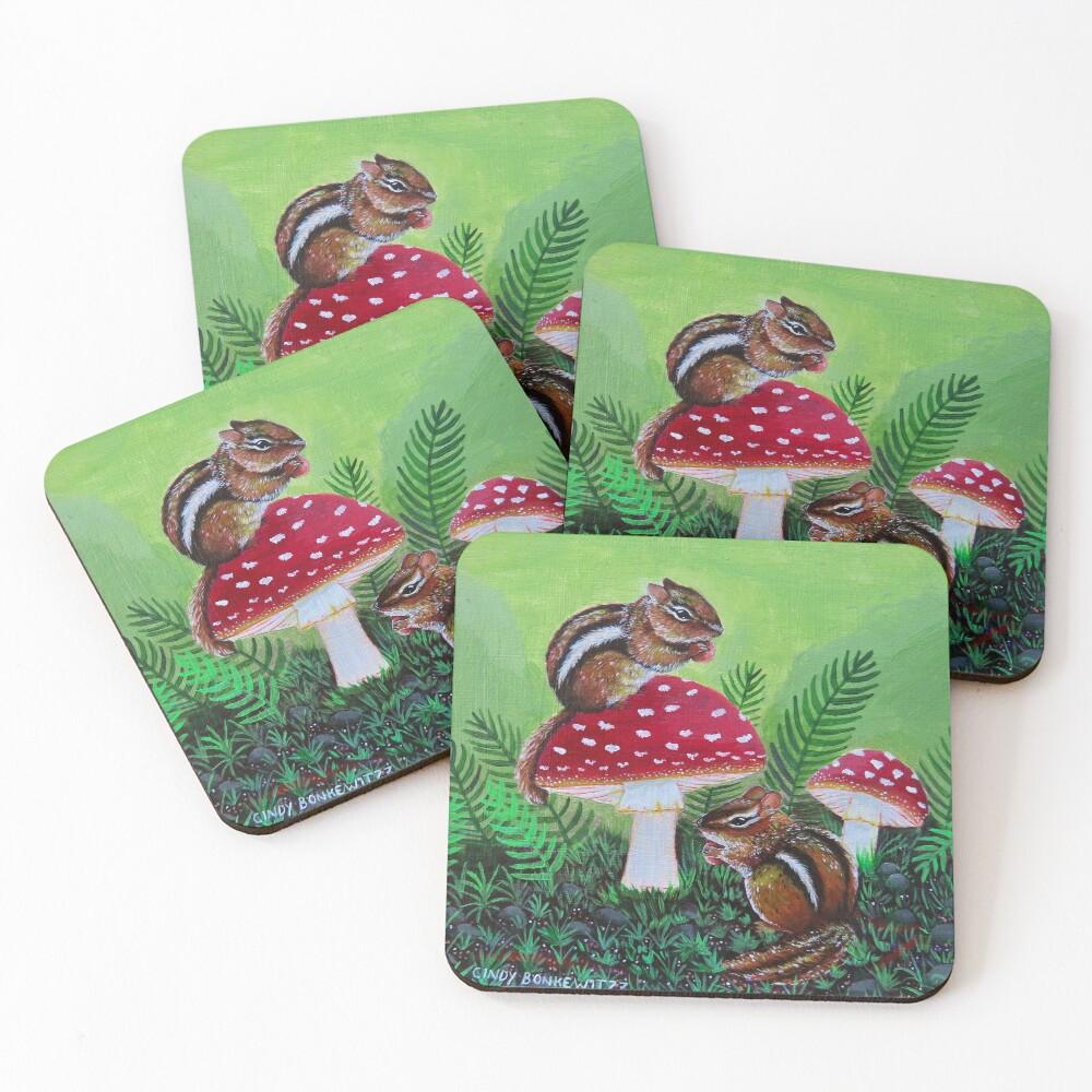 Chipmunks Coasters (Set of 4)