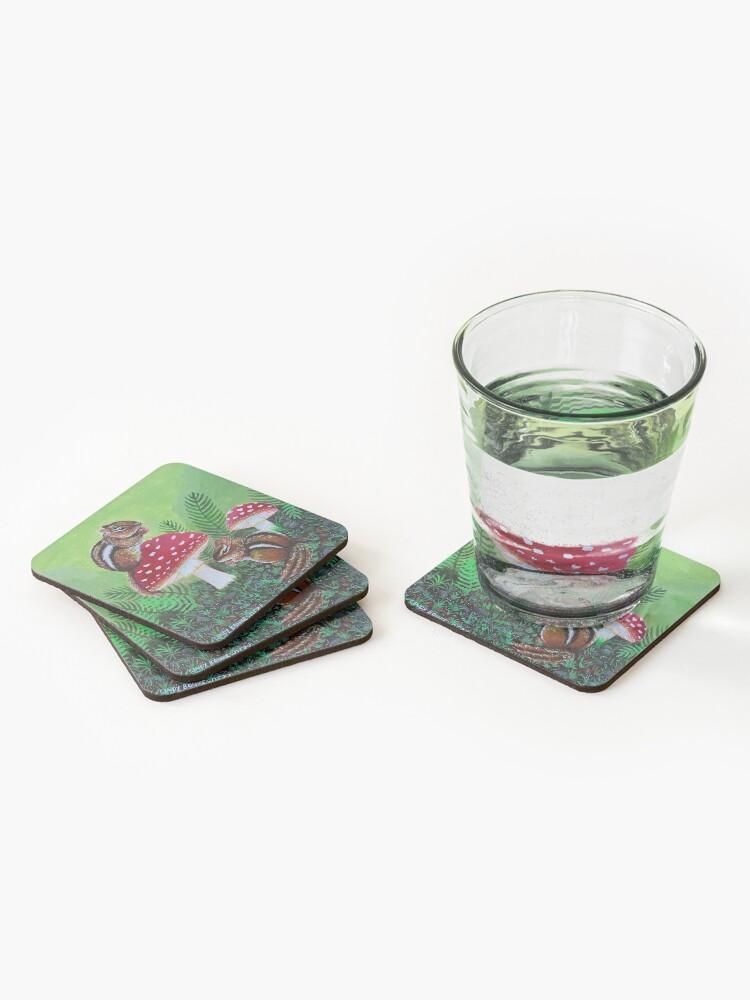 Alternate view of Chipmunks Coasters (Set of 4)