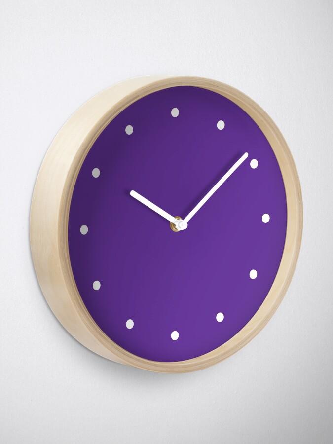 Alternate view of Simple Dots Purple Clock