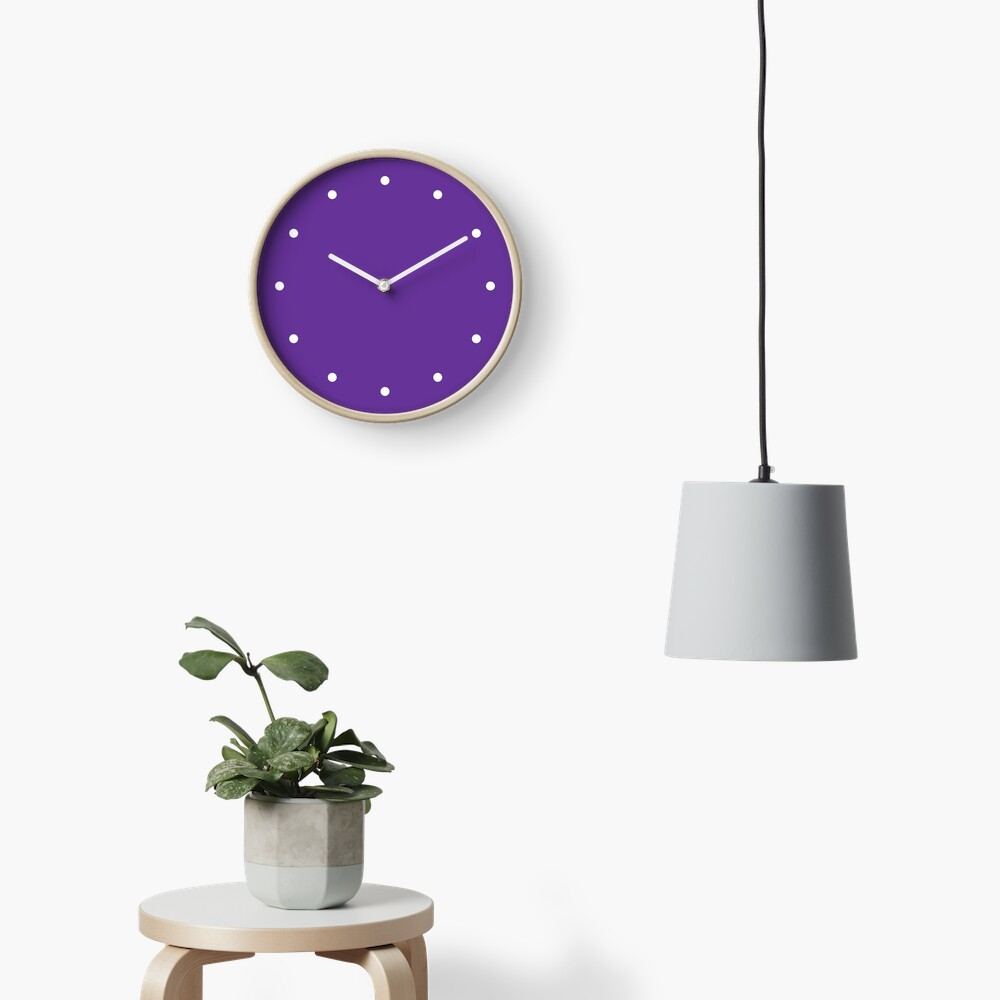 Simple Dots Purple Clock