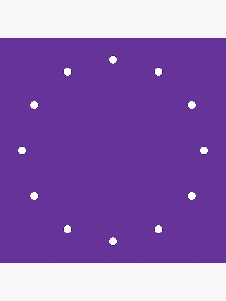 Simple Dots Purple by QuirkyClock