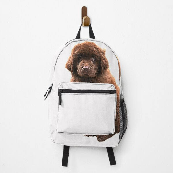 Newfoundland Chocolate Brown Puppy Dog Backpack