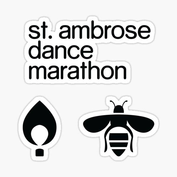 St. Ambrose Dance Marathon Theme Sticker