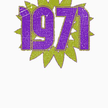 Vintage Look 1970's Funky Year Graphic 1971 by VintageSpirit