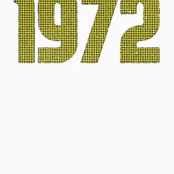 Vintage Look 1970's Funky Year Graphic 1972 by VintageSpirit