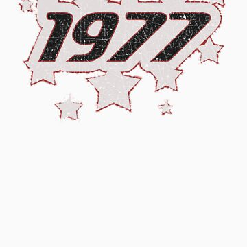 Vintage Look 1970's Funky Year Graphic 1977 by VintageSpirit
