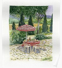 """""""IL PRANZO"""" TUSCANY ITALY - Watercolor Poster"""
