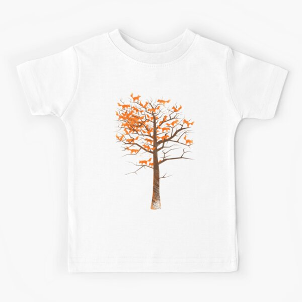 Blazing Fox Tree Kids T-Shirt