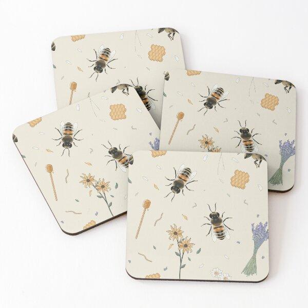 Cottagecore Bees Coasters (Set of 4)