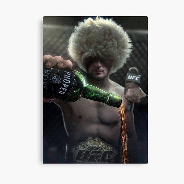 Khabib Nurmagomedov Epic UFC Conor Mcgregor Proper 12 Whiskey Canvas Print