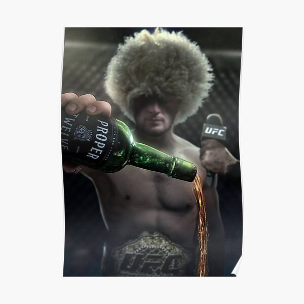 Khabib Nurmagomedov Epic UFC Conor Mcgregor Proper 12 Whiskey Poster