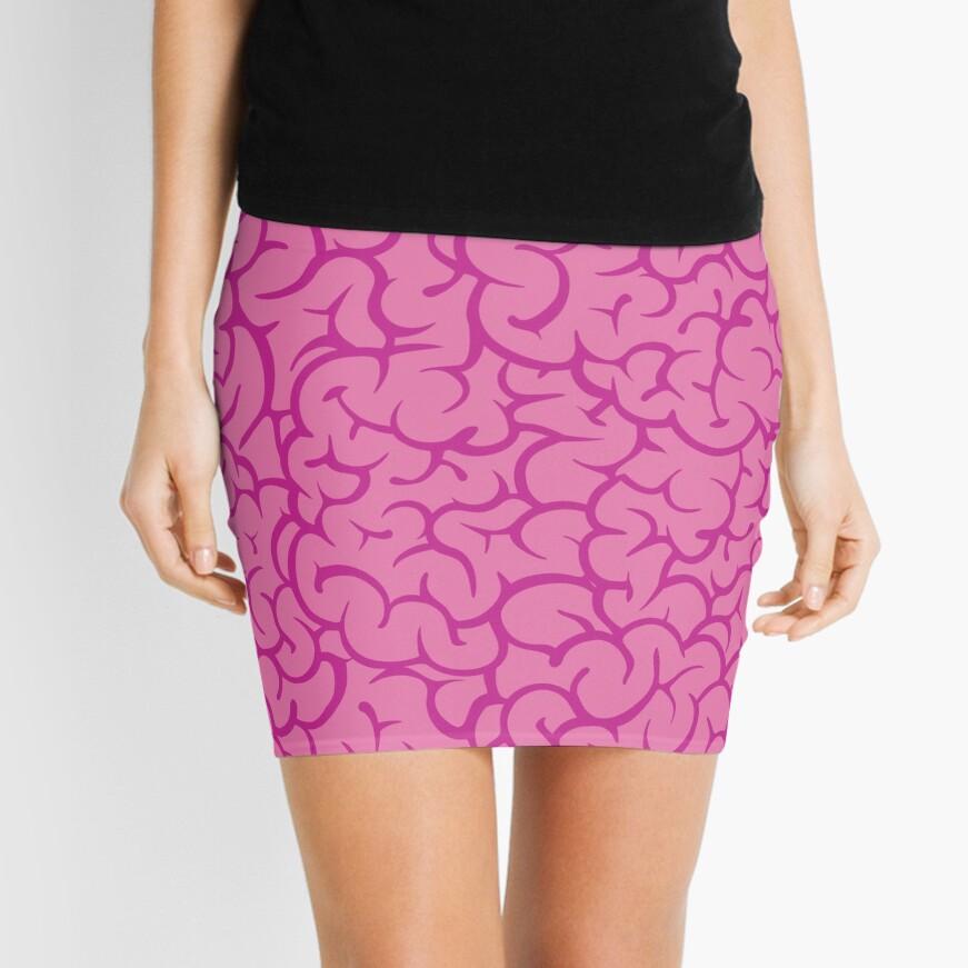 Pink brains pattern Mini Skirt