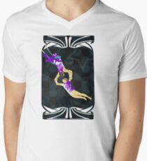 Flying Trapeze Circus Performance Mens V-Neck T-Shirt