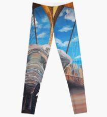 Legging Elephant Crossing the Brooklyn Bridge