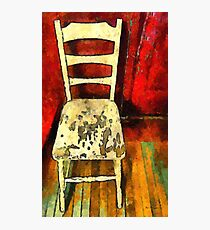 The Cream-Colored Chair Photographic Print