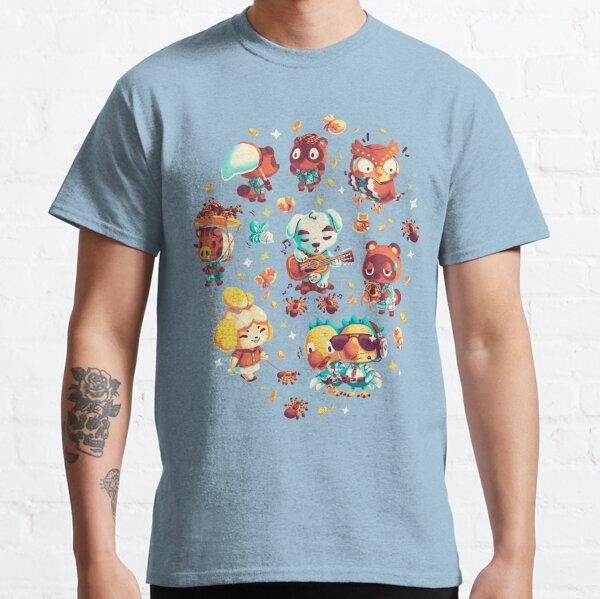 Tarantula Island - Animal Crossing Pattern - Isabelle, Tom Nook, Blathers, New Horizons, KK Slider, Daisy Mae Camiseta clásica
