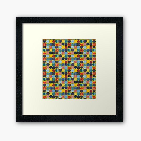 marimekko kompott design  Framed Art Print