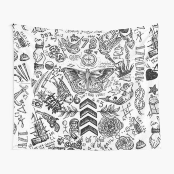 One Direction Tattoos Tapestry