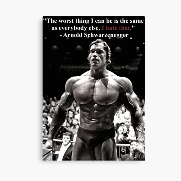 Arnold Motivational Quote  Canvas Print