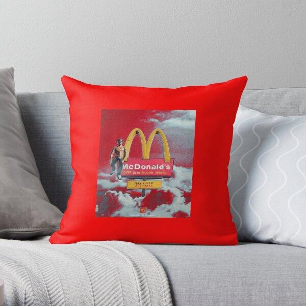 Travis scott x Mac donald's Throw Pillow