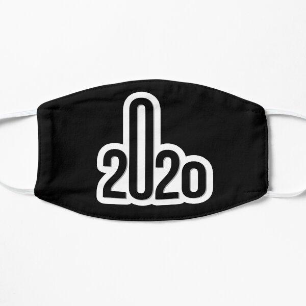 Middle finger - Fuck You 2020 (Black) Flat Mask