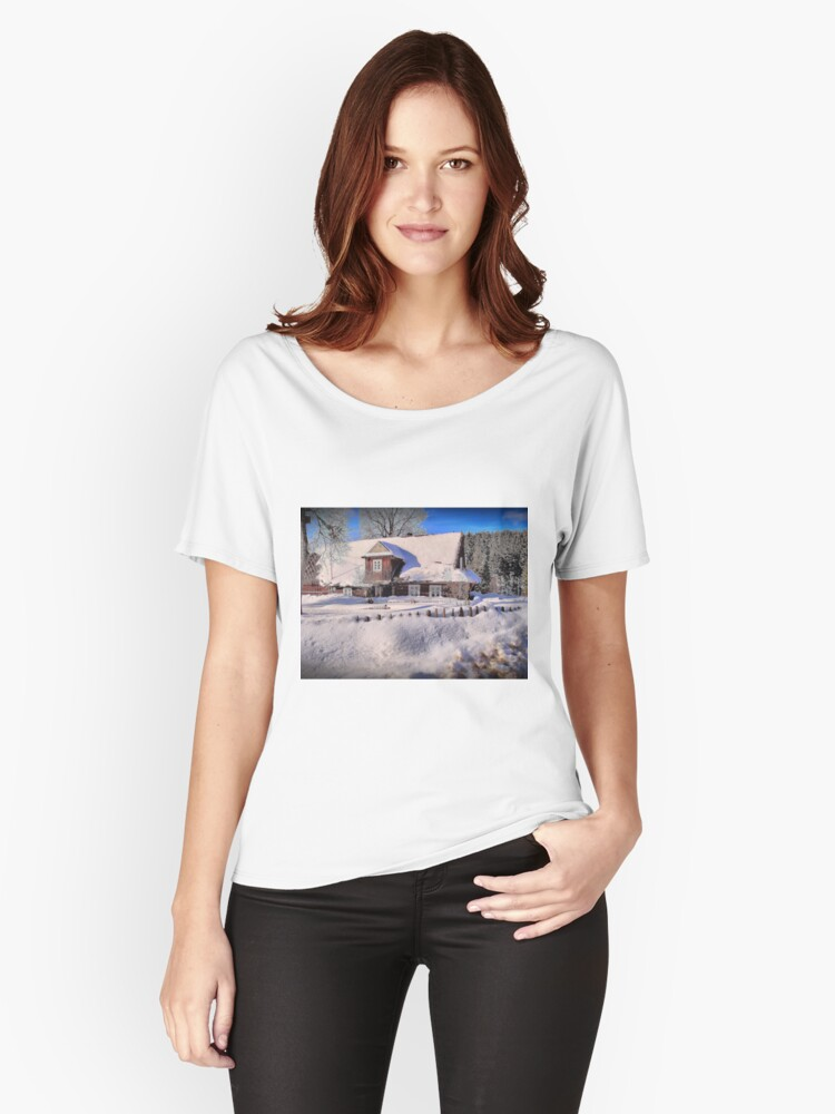 Sunny day after a snow storm  Women's Relaxed Fit T-Shirt Front
