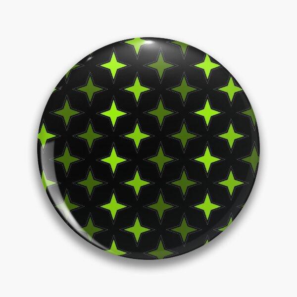 Motif étoiles verte sur fond noir, composition motif étoile Badge