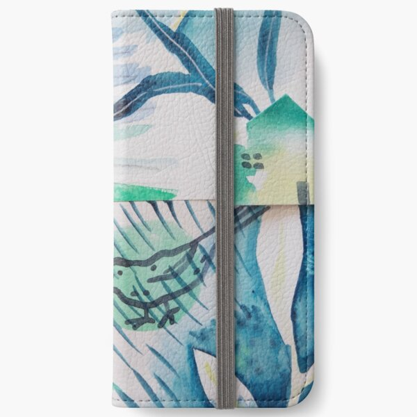 Abstract watercolour-Collage  iPhone Wallet