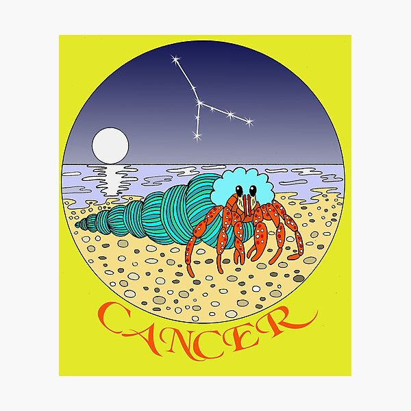 Cancer the Crab Zodiac Star Sign Horoscope Photographic Print