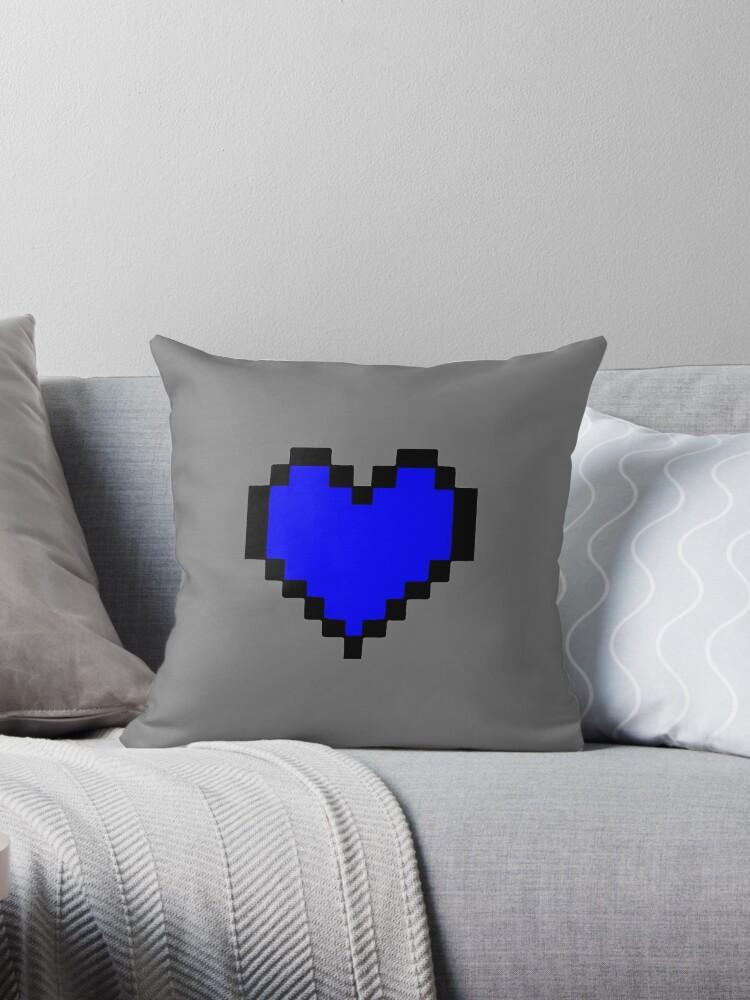'Undertale Human Soul' Throw Pillow by Minizhirra