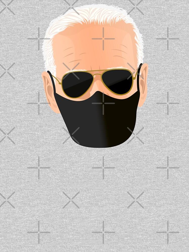 Joe Biden's face with mask by PopArtClub