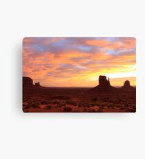 Sunrise - Monument Valley Canvas Print