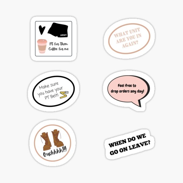 Things Military Spouses Say Sticker Pack Sticker