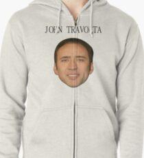 John Travolta/Nicolas Cage Face/Off Zipped Hoodie
