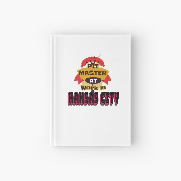 Pit Master at Work in Kansas City Kingdom Smoker Grill funny design Hardcover Journal