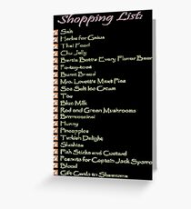 Geek Shopping List Greeting Card