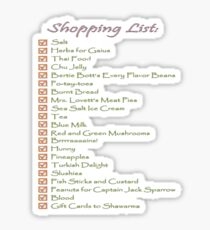 Geek Shopping List Sticker