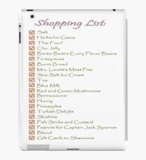 Geek Shopping List iPad Case/Skin