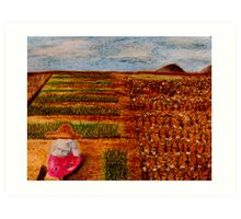 Chive Harvest Art Print