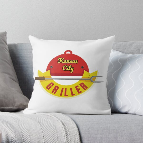 BBQ Kansas City Griller funny design Throw Pillow