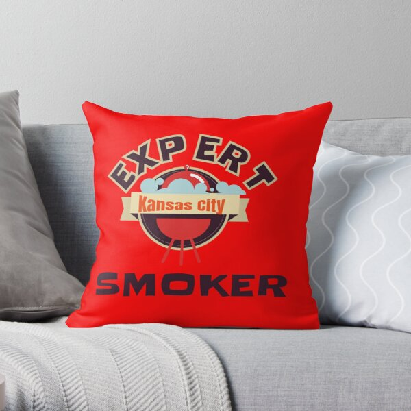 BBQ Expert Kansas City Smoker Grill funny design Throw Pillow
