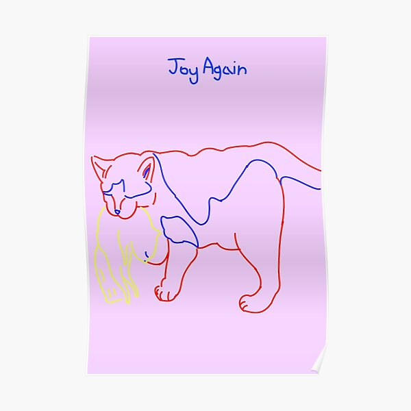 Joy Again - looking out Logo Poster