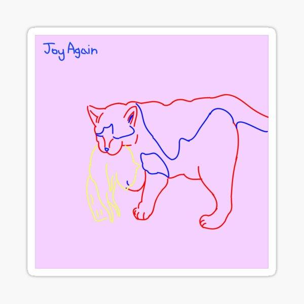 Joy Again - looking out Logo Sticker